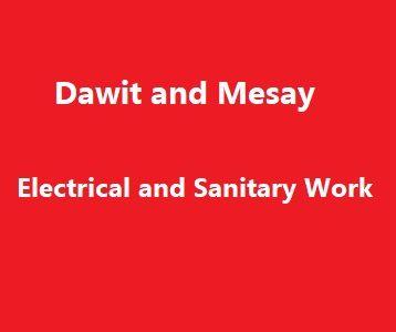 Dawit and Mesay Electrical and Sanitary Work PS | ዳዊት እና መሳይ ኤሌክትሪካል እና ሳኒቴሪይ ስራ ህ.ሽ.ማ